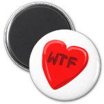 WTF Heart Magnets