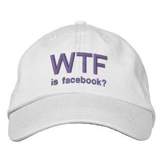 WTF is Facebook Purple classic white cap Embroidered Hat