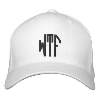 WTF lg oct adj wht ht Embroidered Baseball Cap