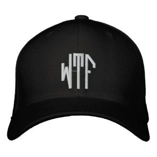 WTF lg oct fitted blk ht Embroidered Hat
