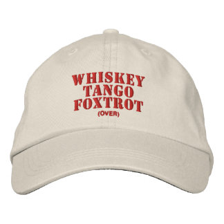 WTF? (over) Embroidered Hat