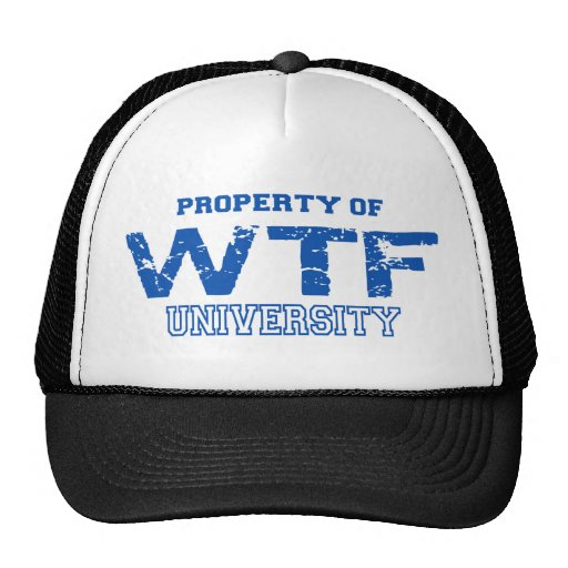 WTF Property Of Design Trucker Hat