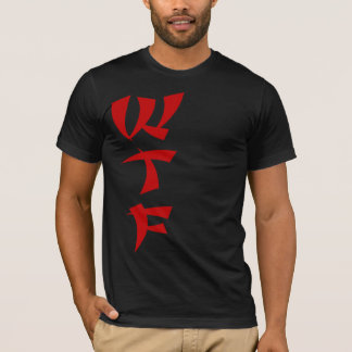 WTF Red Dragon Mn Jersey Tee in Black