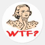 WTF Retro Stickers