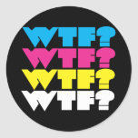 wtf? round stickers