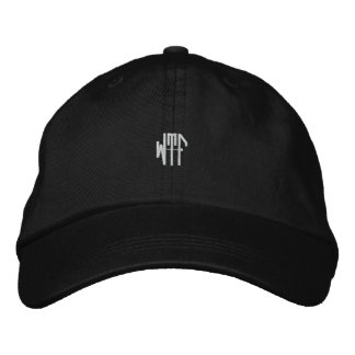 WTF sm 3ltr adj blk ht Embroidered Baseball Hat