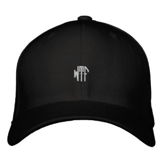 WTF sm oct fitted blk ht Baseball Cap