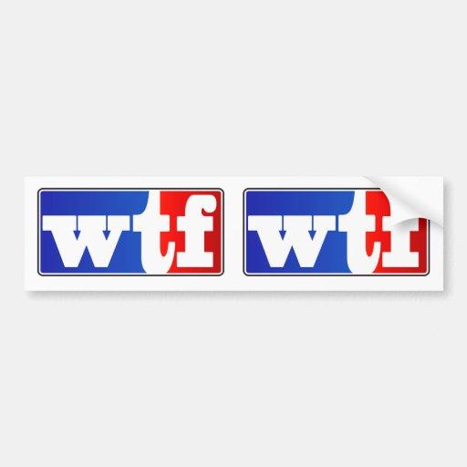 WTF Sports Fan Bumper Sticker