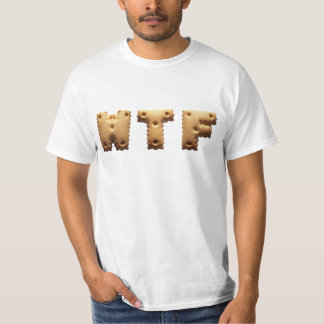 WTF T-shirt with character cookies