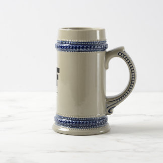 WTF What the Foobar 18 Oz Beer Stein