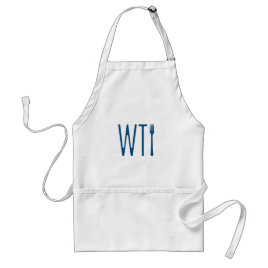 WTF - What The Fork Humor Merchandise Adult Apron
