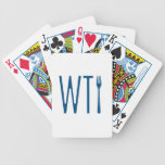 WTF - What The Fork Humor Merchandise Playing Cards