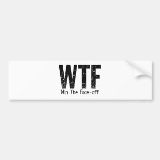 WTF: Win The Face-off (Hockey) Bumper Sticker