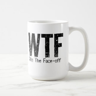 WTF: Win The Face-off (Hockey) Coffee Mug