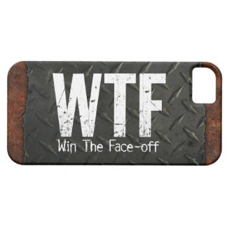 WTF: Win The Face-off (Hockey) iPhone SE/5/5s Case