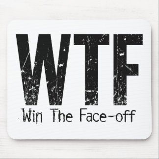 WTF: Win The Face-off (Hockey) Mouse Pad
