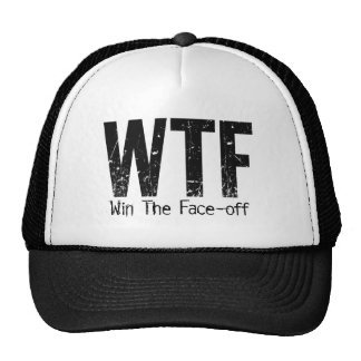 WTF: Win The Face-off (Hockey) Trucker Hat