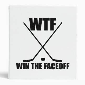 WTF Win The Faceoff 3 Ring Binder