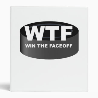 WTF Win The Faceoff 3 Ring Binders