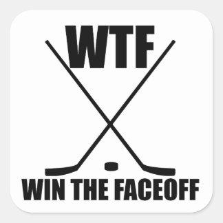 WTF Win The Faceoff Sticker