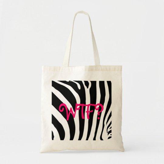WTF? zebra print tote