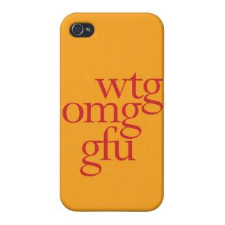 """""""WTG OMG GFU """" iPhone 4/4S CARCASA"""