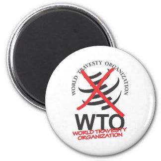 WTO - Anti WTO - World Travesty Organization 2 Inch Round Magnet