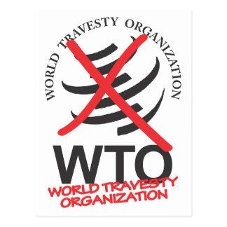 WTO - Anti WTO - World Travesty Organization Postcard