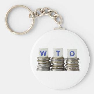 WTO - World Trade Organization Basic Round Button Keychain