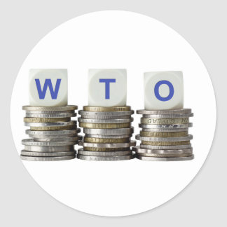 WTO - World Trade Organization Classic Round Sticker