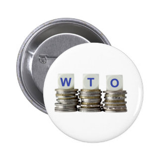 WTO - World Trade Organization Pinback Button