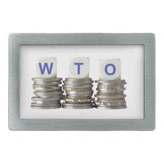 WTO - World Trade Organization Rectangular Belt Buckle