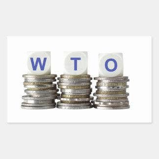 WTO - World Trade Organization Rectangular Sticker