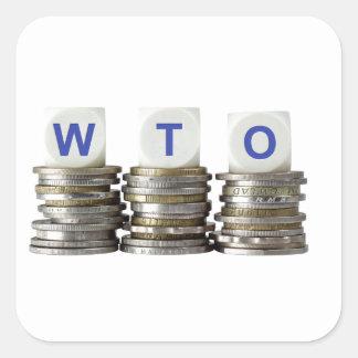 WTO - World Trade Organization Square Sticker