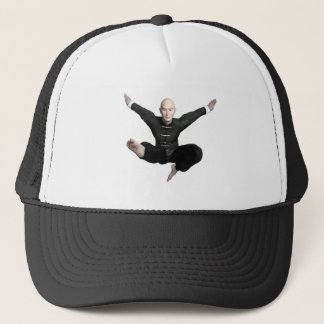 Wu Shu form with flying kick to the front Trucker Hat