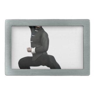 Wu Shu form with squat Belt Buckle