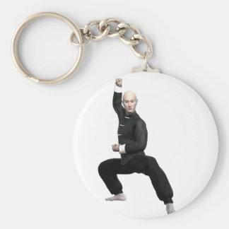 Wu Shu form with squat Keychain