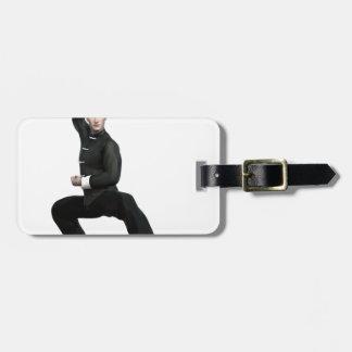 Wu Shu form with squat Luggage Tag