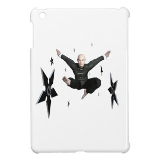 Wu Shu with flying kick to the front and Shuriken iPad Mini Cover