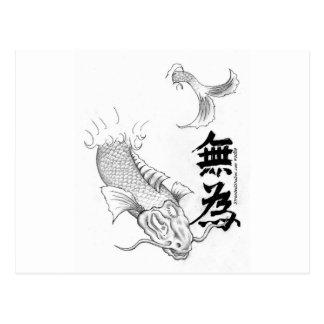 Wu Wei Koi Postcard