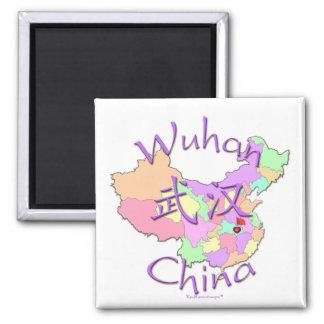 Wuhan China Imán Cuadrado