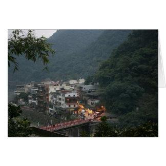 Wulai, Taipei County, Taiwan Greeting Card
