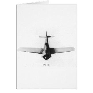 Wulf FW190 de Focke Tarjeta De Felicitación
