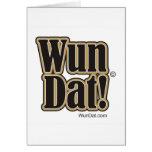 ¡Wun Dat! Tarjeta de felicitación