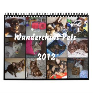 Wunderchins Pets 2012 calendar