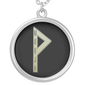 Wunjo Rune gold Silver Plated Necklace
