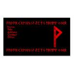 Wunjo Rune red Business Card Template