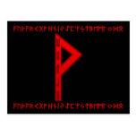 Wunjo Rune red Post Card
