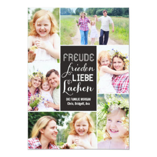 Wünscht Feiertagsfotokarte del collage Anuncios Personalizados