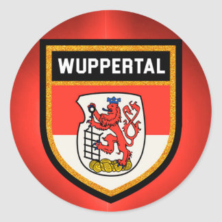 Wuppertal  Flag Classic Round Sticker